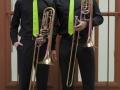 trombonesectie met accessoires