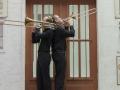 trombonesectie spelend
