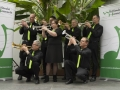 trompetsectie, groot orkest met accessoires
